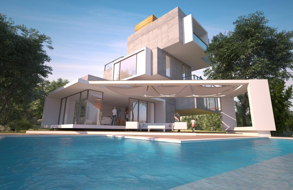 modernes-Neubauhaus-Immobilienwerte
